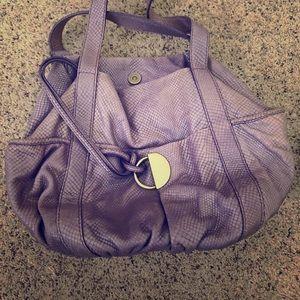 Kooba vintage purple snakeskin purse tote bag